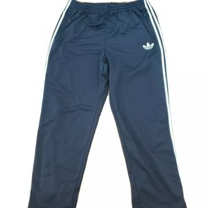 Adidas Black with White Stripes Mens Athletic Pant